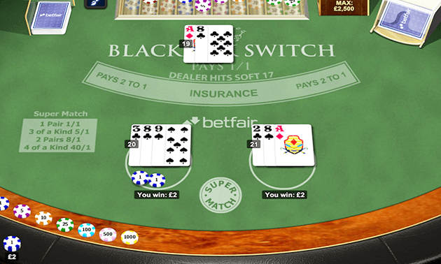 Blackjack switch or blackjack gioco roulette gratis da scaricare