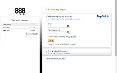 Bestätigen Sie die PayPal-Transaktion mit Ihren Angaben